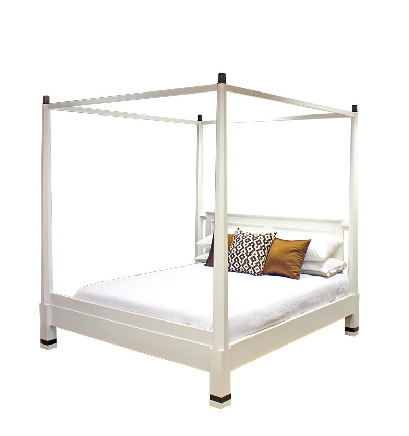 pencil four poster bed queen size