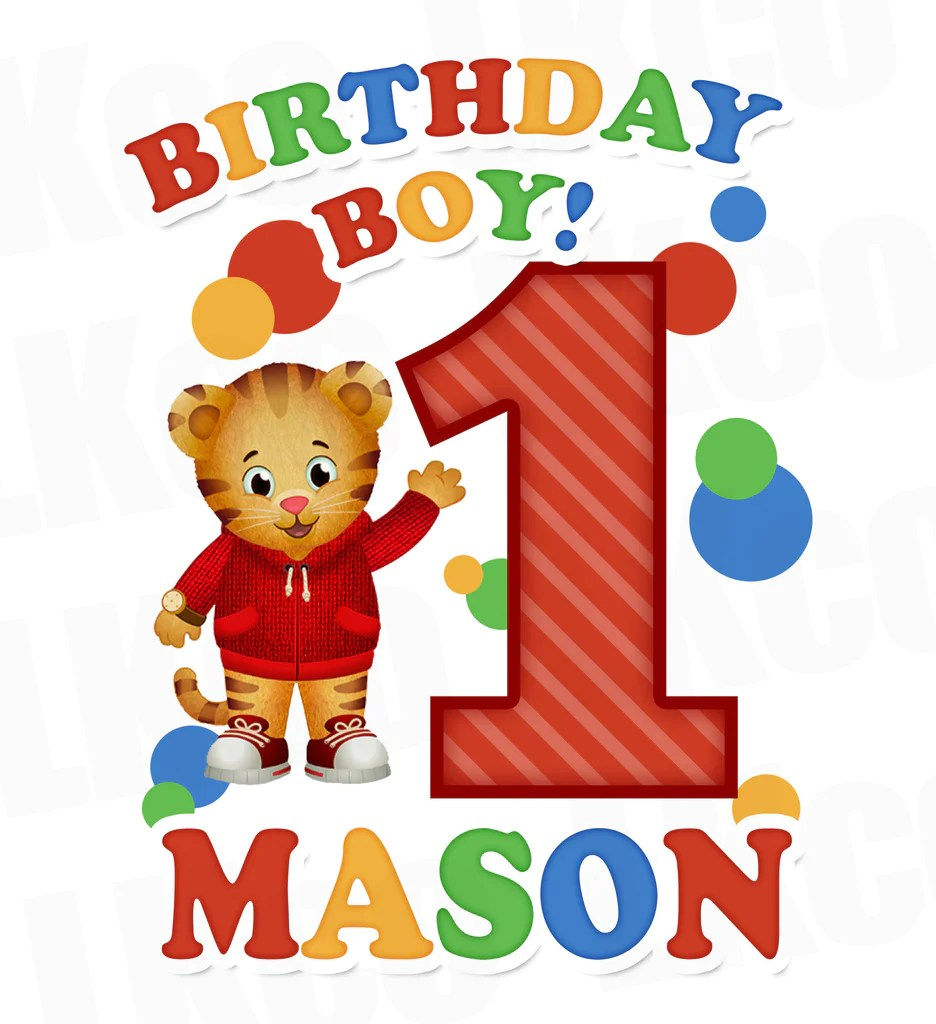 Daniel Tiger Iron On Transfer Birthday For Boy Or Girl Luvibeekidsco