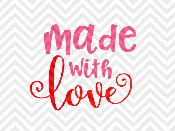 Download Made With Love Valentine's Day Baby Onesie SVG and DXF EPS ...