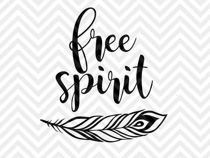 Download Free Spirit Feather SVG and DXF Cut File • PNG • Vector ...