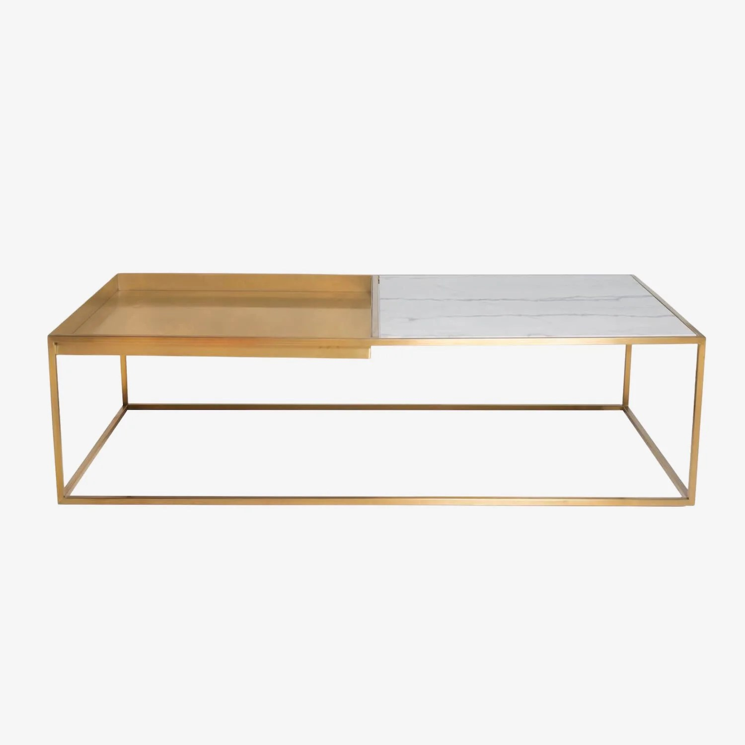 marble cocktail table w tray
