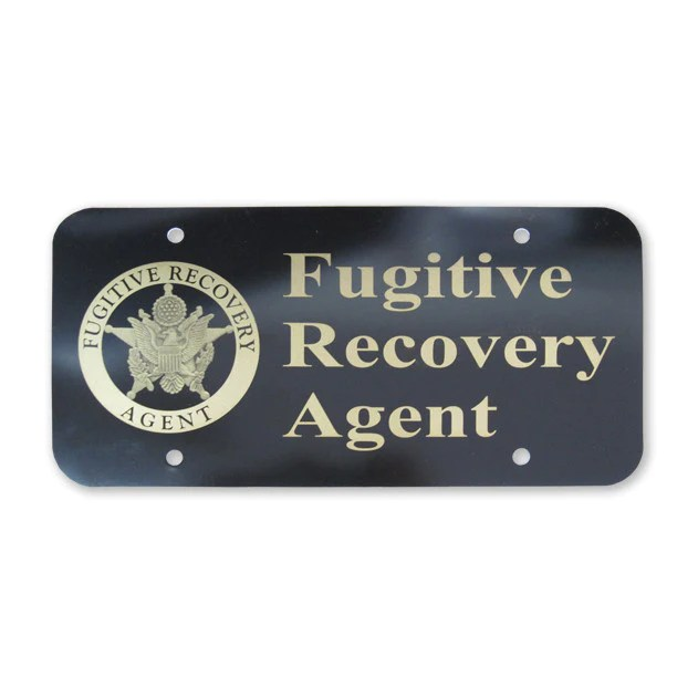Fugitive Recovery License Plate