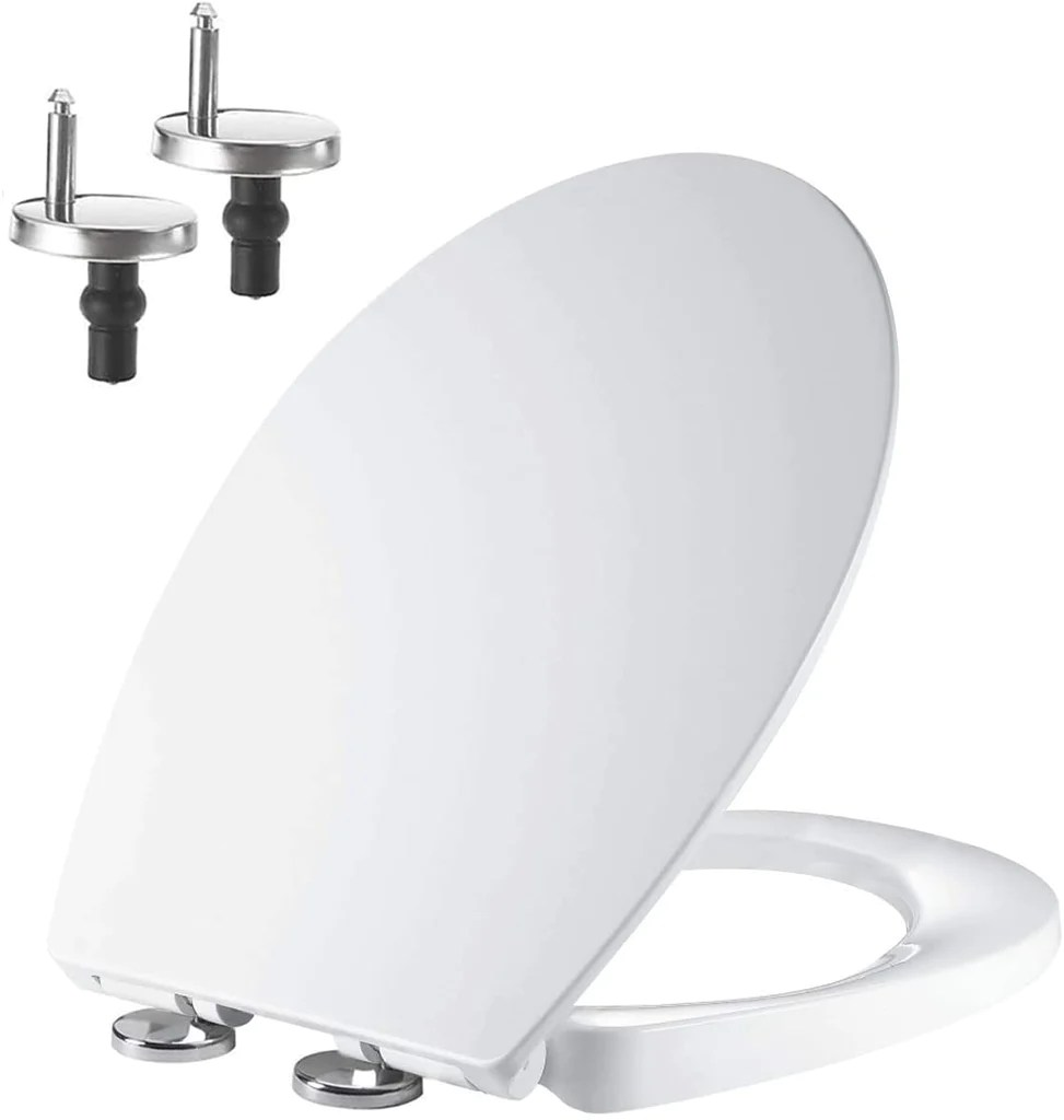 Soft Close Toilet Seat With Quick Release Top Bottom Fixing Hinges Oval Shape Pp Mass Dynamic Limited