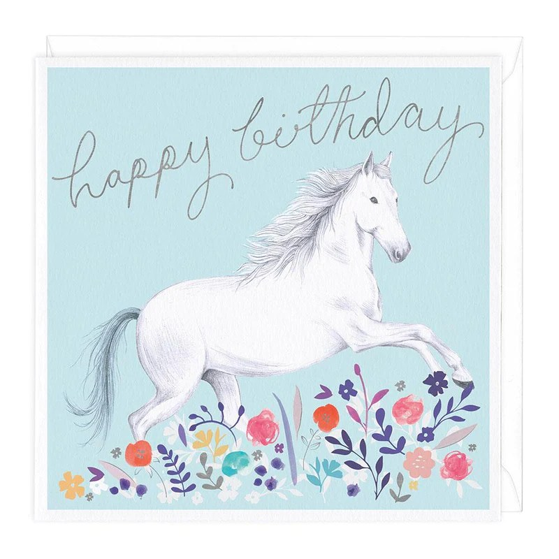 Horse Meadow Happy Birthday Card Whistlefish