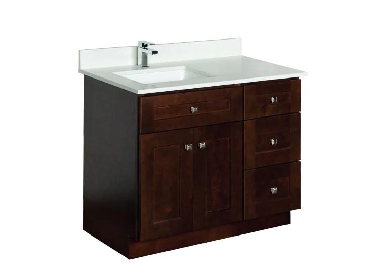 33 36 39 42 48 offset sink bathroom vanity in java
