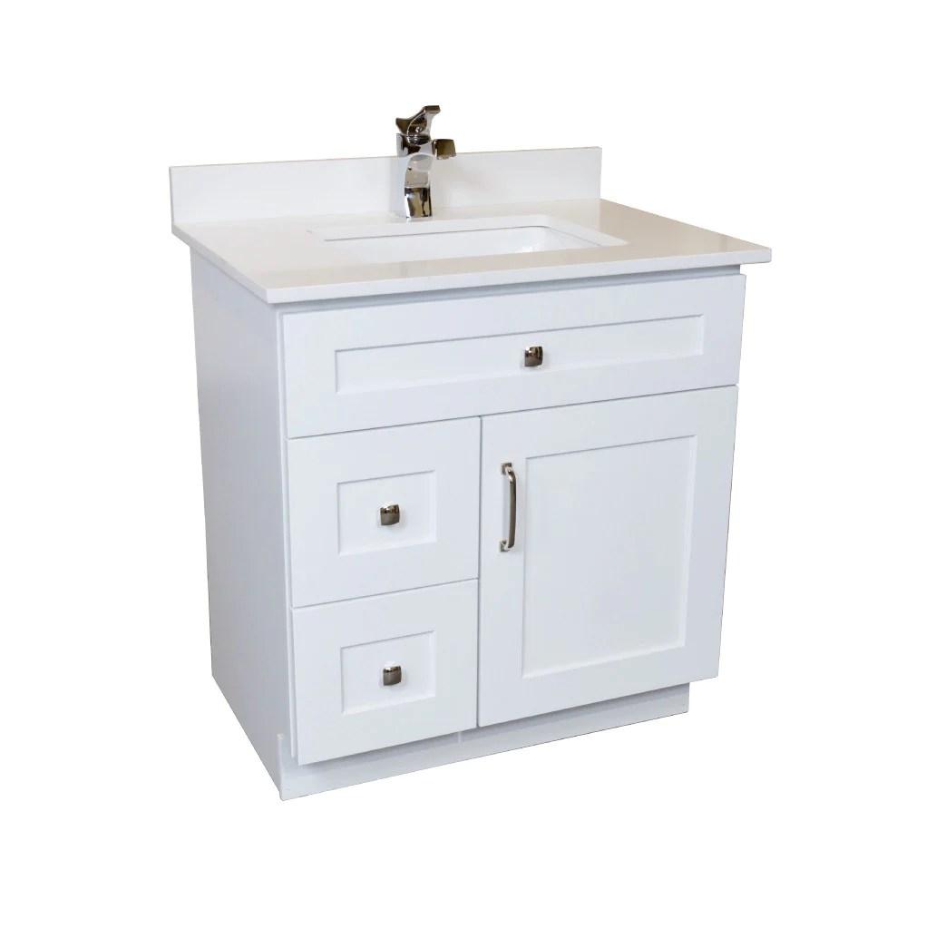 30 bathroom vanity in white combo
