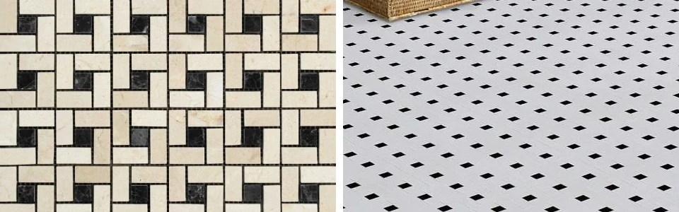 pinwheel tile floor design