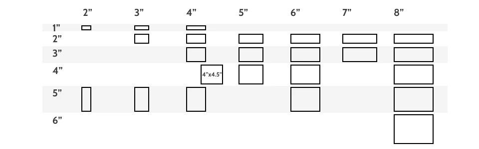 floor tile sizes