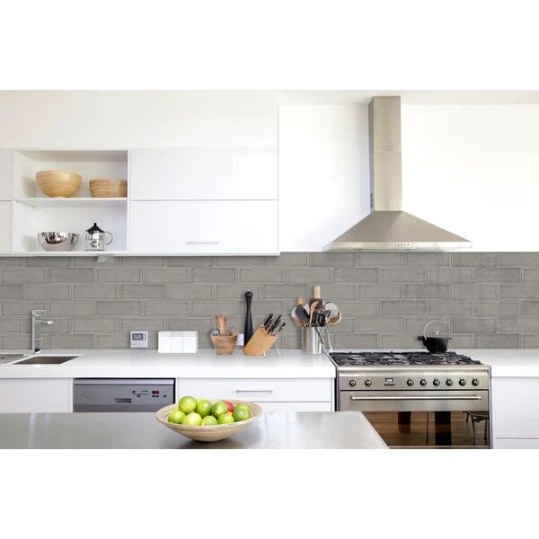 highland park dove gray handcrafted ceramic tile glossy