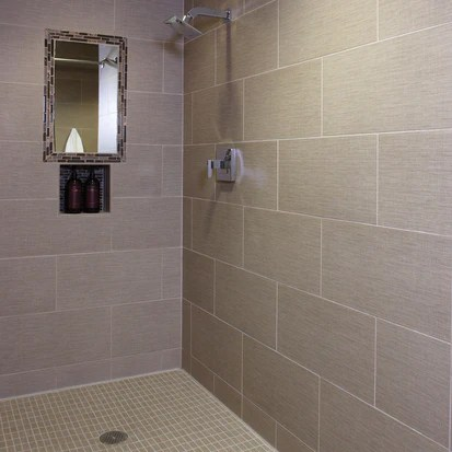 infusion taupe fabric porcelain tile matte