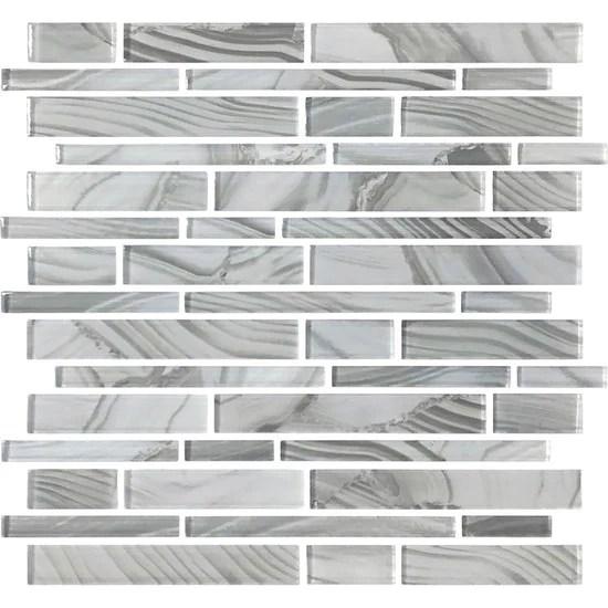refluence stream glass mosaic linear