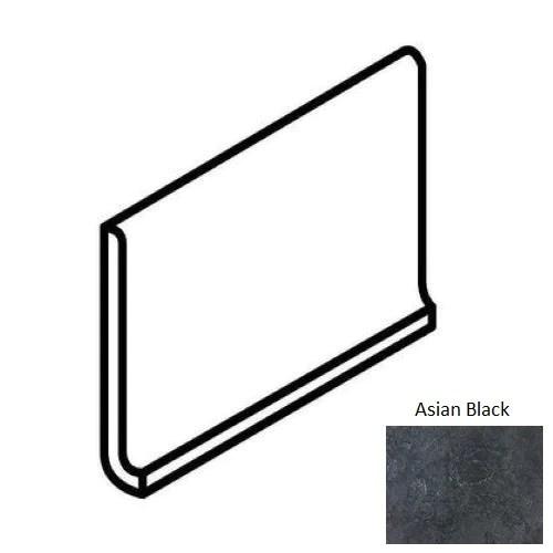 continental slate asian black porcelain floor wall trim 6 x 12 cove base