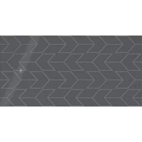 showscape deep gray chevron pattern ceramic tile gloss textured