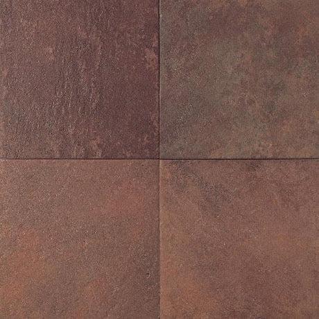 continental slate indian red porcelain tile matte