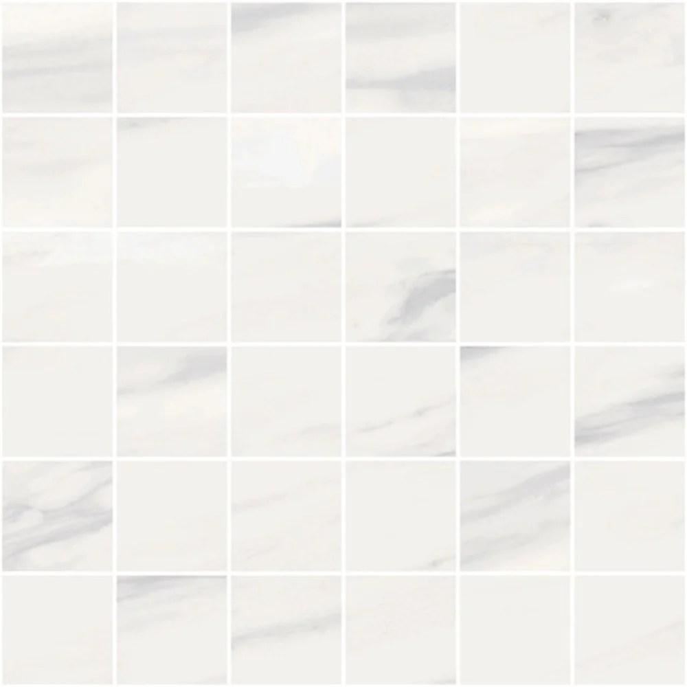 carrara select carrara venato porcelain mosaic 2 x 2