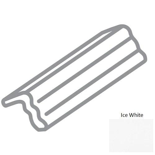 traditions ice white ceramic wall trim 2 x 6 v cap