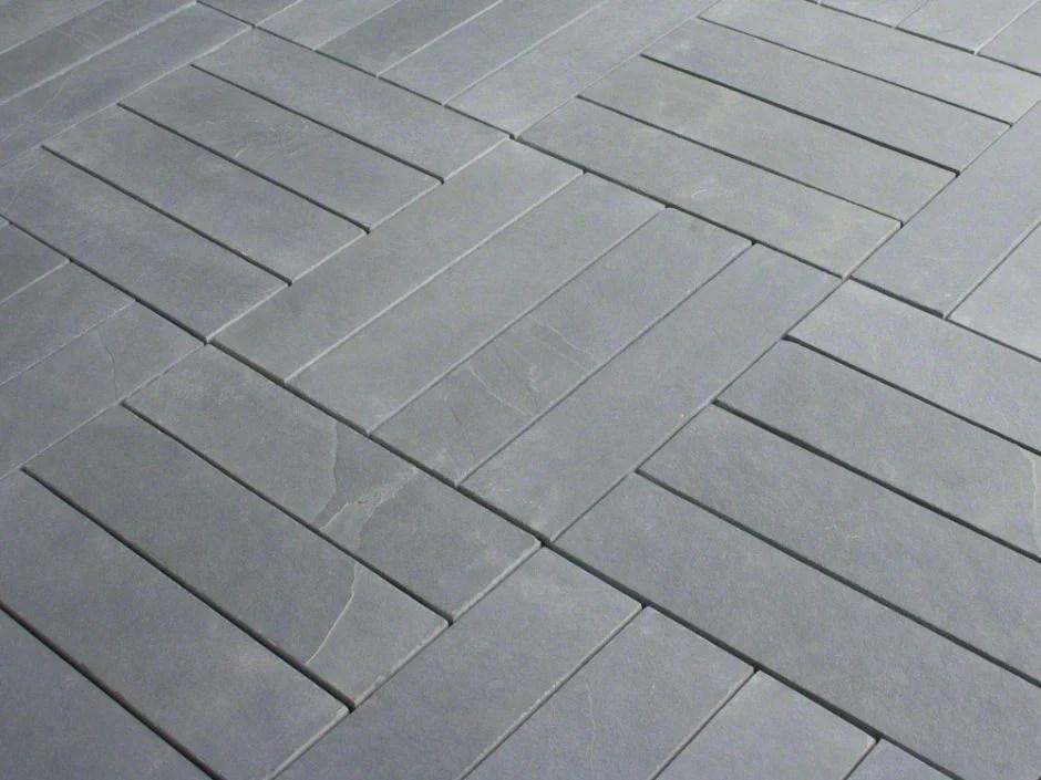 montauk blue slate tile natural cleft face gauged back