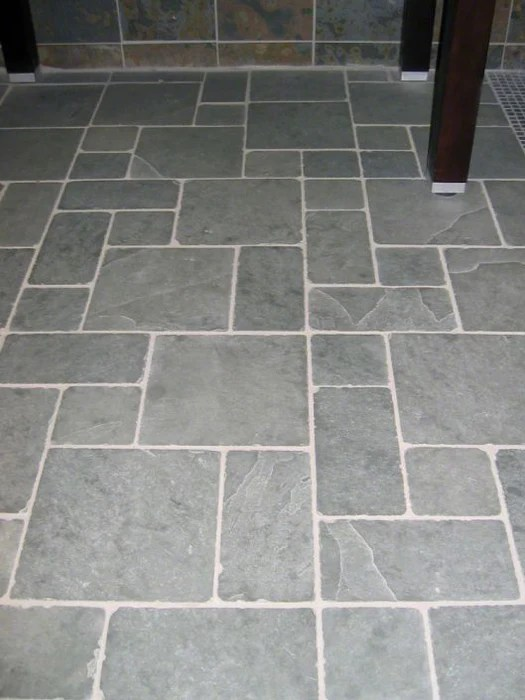 montauk blue tumbled slate tile