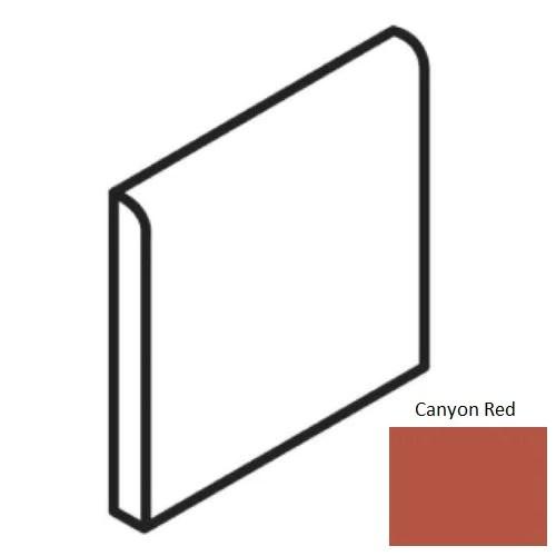 quarry tile canyon red quarry floor wall trim 6 x 6 bullnose