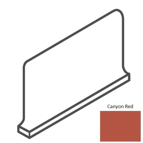 quarry tile canyon red quarry floor wall trim 5 x 6 cove base outcorner right