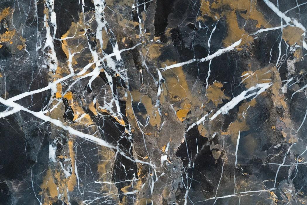 black gold marble tile polished