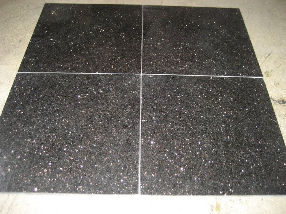 black galaxy granite tile polished