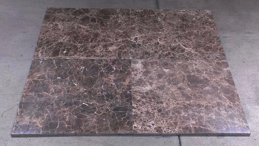 emperador dark marble tile polished