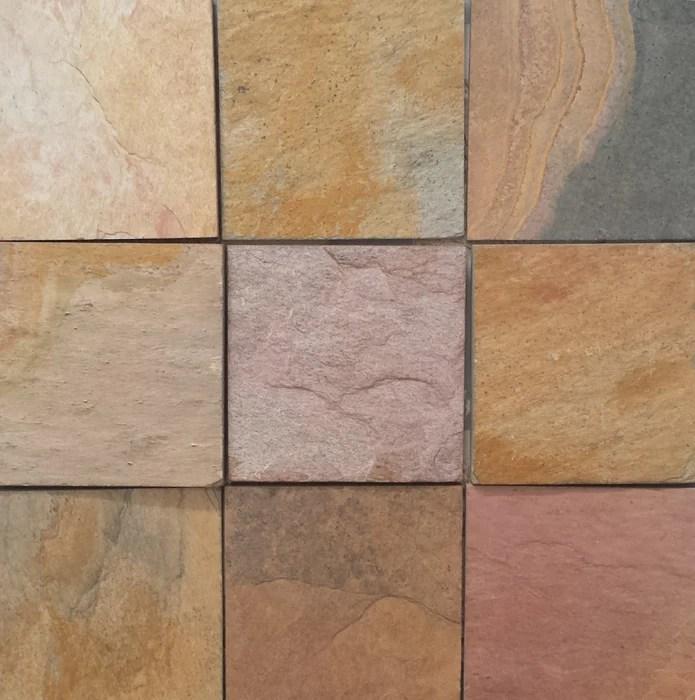 indian sunrise slate tile natural cleft face back