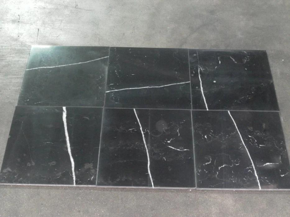 monterey black marble tile polished