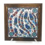 Handmade Handpainted Turkish Ottoman Design Wall Art Ceramic Tile With Woodymood Llc