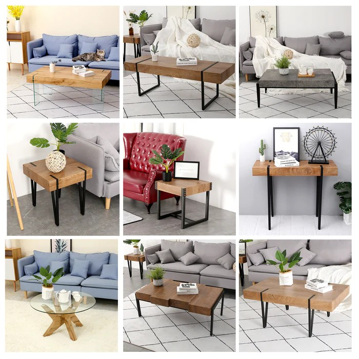 modern industrial oversize dining table desk table council board rustic and modern style thicker table top rustproof metal frame for for living room