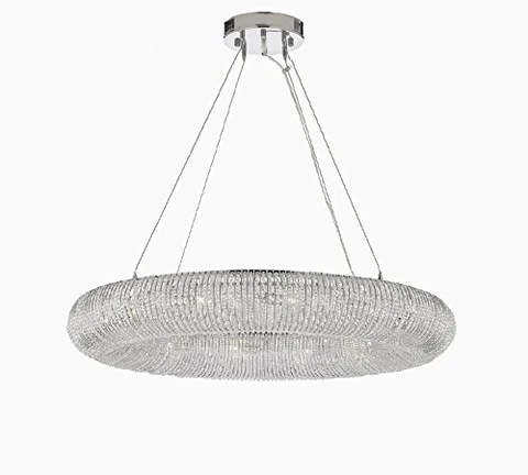 crystal halo chandelier modern contemporary lighting floating orb 32 wide good for dining room foyer entryway family room and more gb104 3132 9