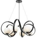 6 Light Matte Black Mid Century Modern Chandelier C193 6466 Mk Gallery Chandeliers