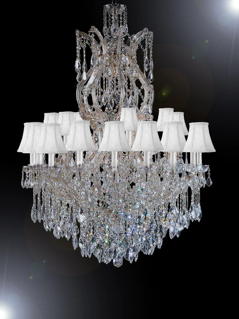 maria theresa chandelier crystal lighting chandeliers dressed with empress crystal tm h 50 w 37 with shades great for large foyer entryway