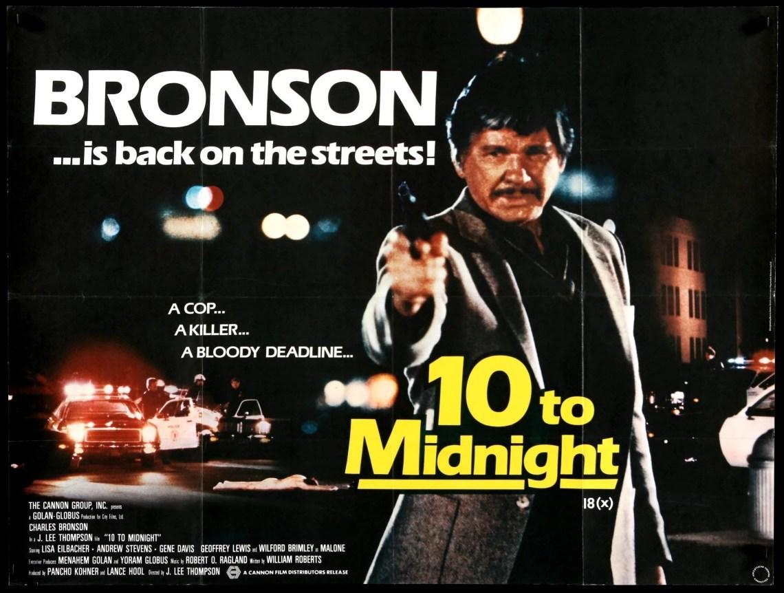Ten to Midnight (1983) Original British Quad Movie Poster - Original Film  Art - Vintage Movie Posters