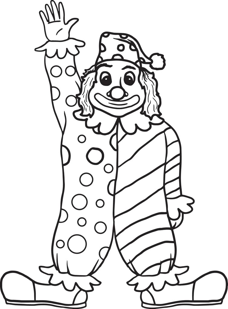 Printable Clown Coloring Page For Kids Supplyme