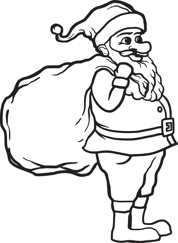 Printable Santa Claus Coloring Page For Kids 1 Supplyme