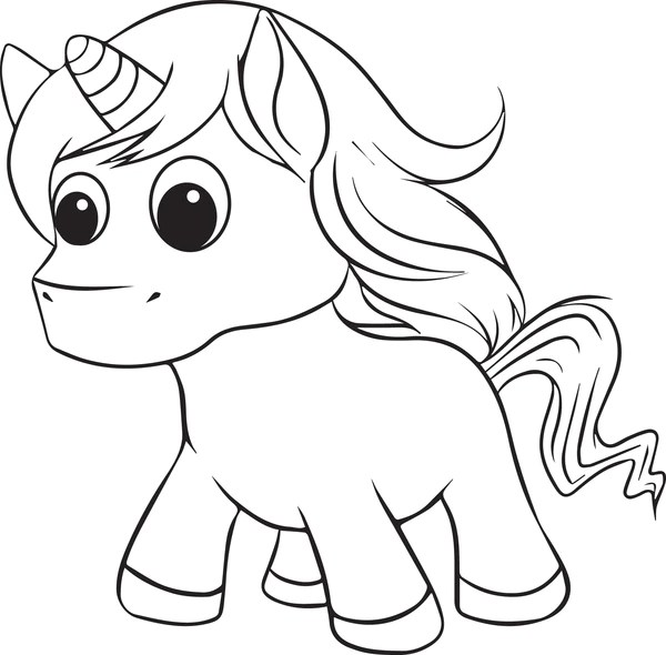 free printable unicorn coloring page for kids #2 – supplyme