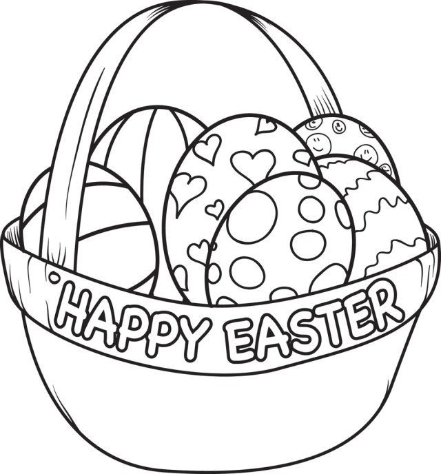 Printable Easter Egg Basket Coloring Page for Kids – SupplyMe