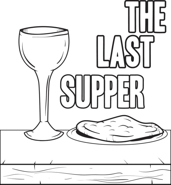 the last supper coloring page # 22