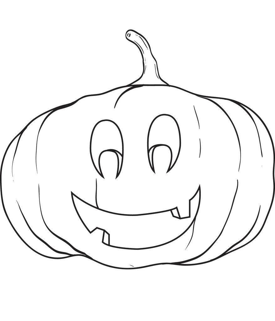 Printable Pumpkin Coloring Page For Kids 7 Supplyme