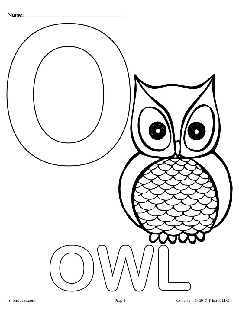 letter o alphabet coloring pages  3 free printable
