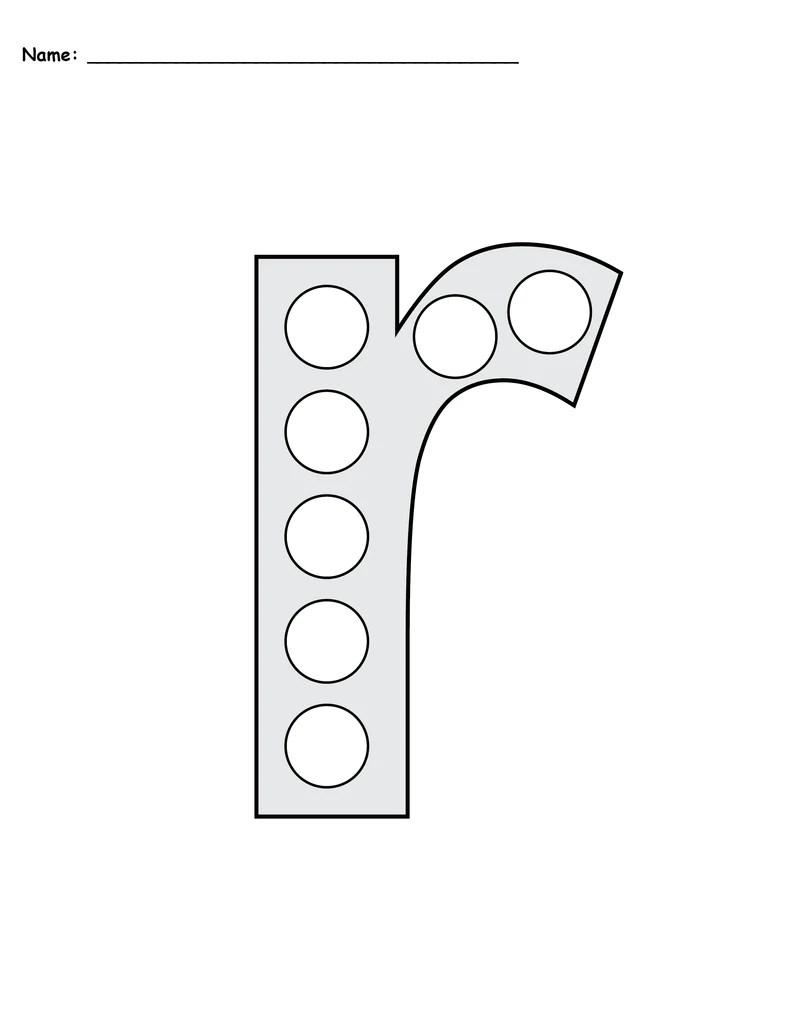 Dot Worksheets 1 50 Dot