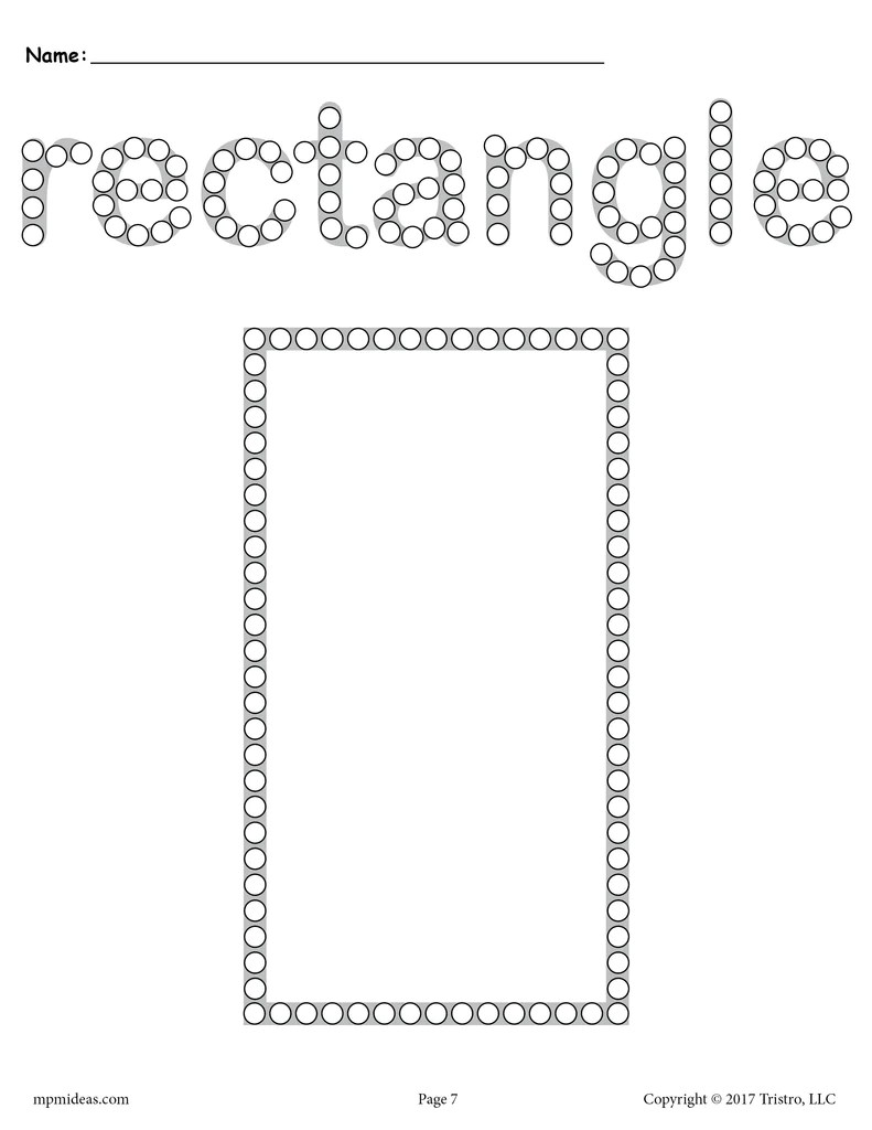 Rectangle Coloring Page Free Coloring Pages Download   Xsibe circle ...