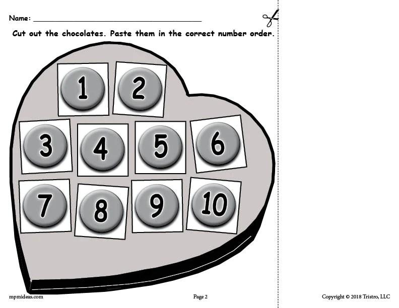Numbers 0 Ordering Worksheet 20