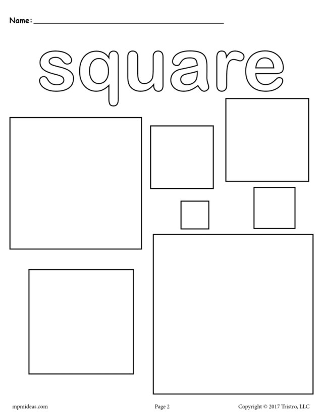 8 Shapes Coloring Pages!