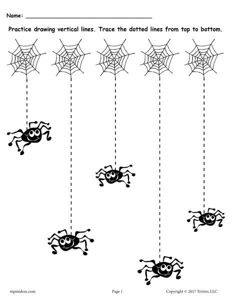 FREE Printable Halloween Line Tracing Worksheets SupplyMe