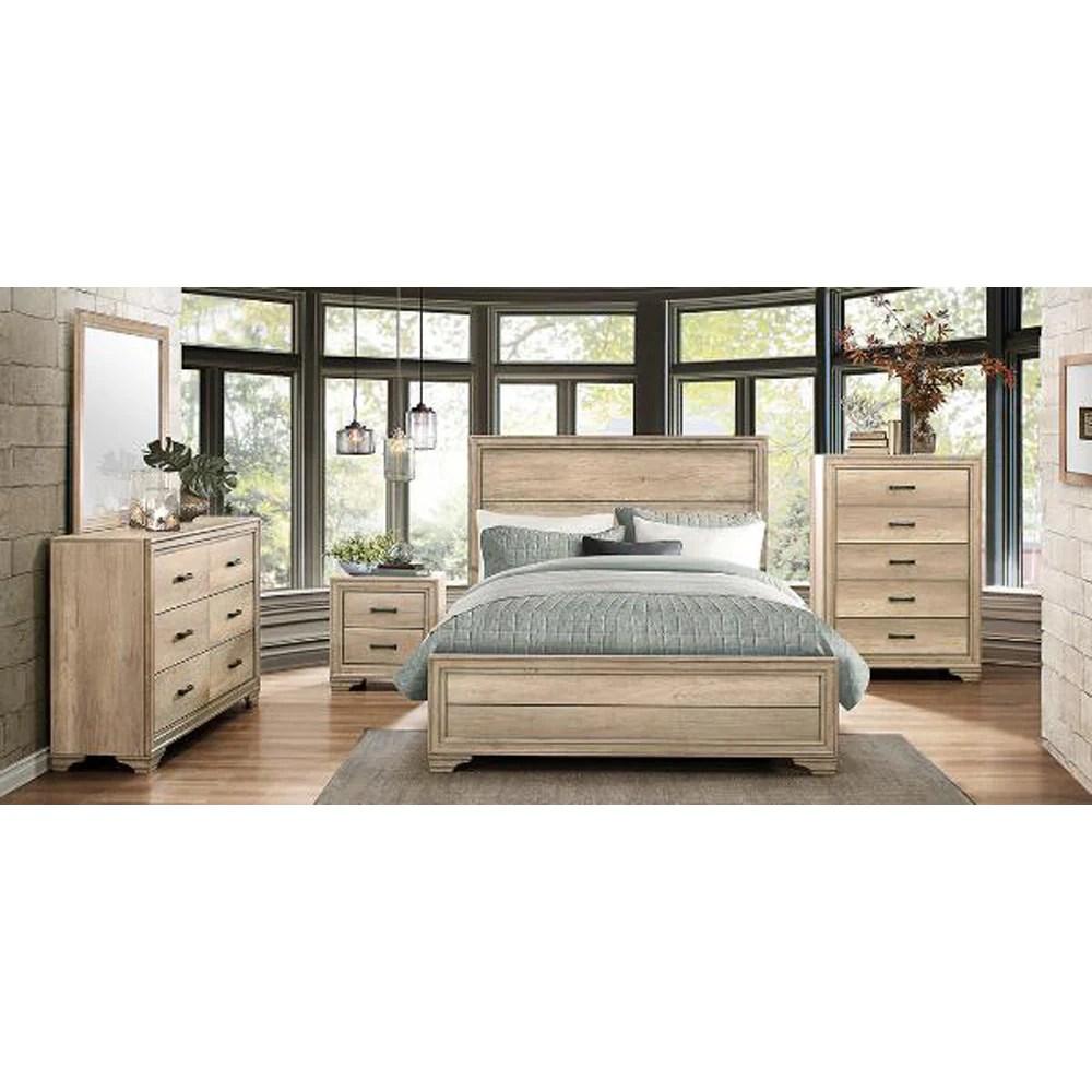 5 piece rustic contemporary queen bed set 1955