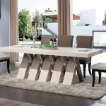 Modern Marble Shine Dining Table Set My Aashis