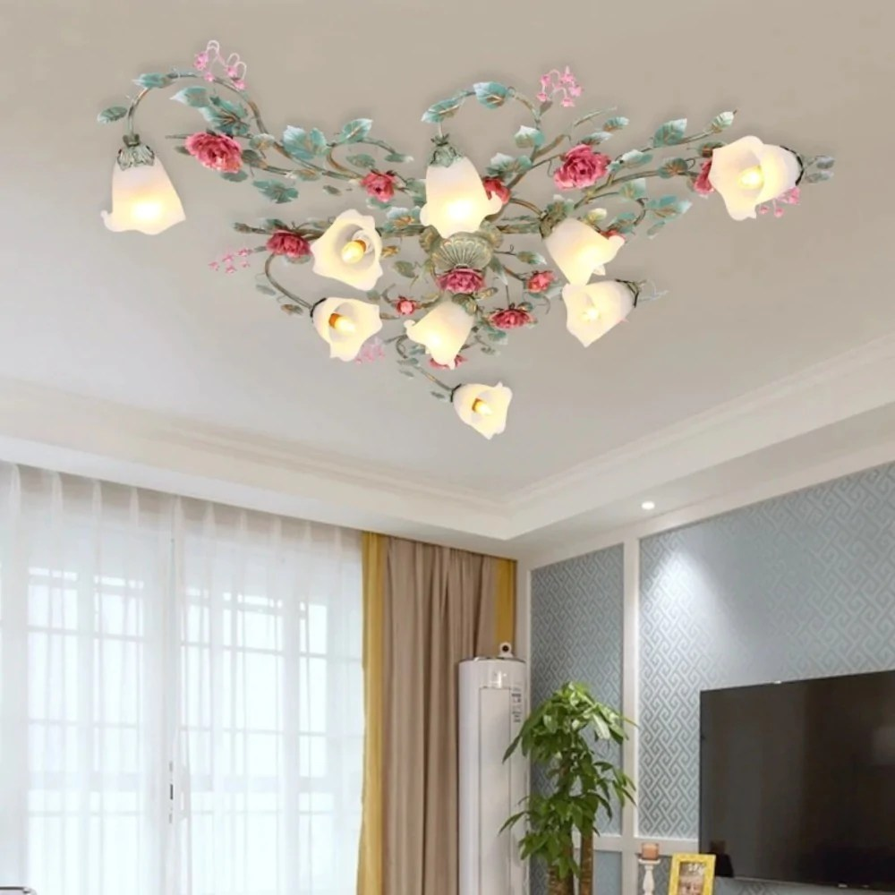 Romantic Rose Flower Ceiling Lights For Living Room My Aashis
